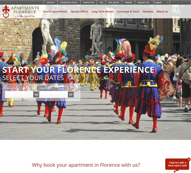 Vacation apartments rentals in Florence Italy
